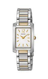 Seiko Steel Two-tone Bracelet White Dial Women's watch. Get sizzling discounts up to Off at Wrist Watch using Mother's Day Promo Codes. Great Mothers Day Gifts, Gifts For Your Mom, Halloween Sale, Women Names, Square Watch, Watch Brands, Seiko, Watches, Steel