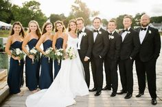 Williamsburg, Virginia's premiere wedding planning company serving up timeless, elegant and southern weddings in Williamsburg, Virginia. Navy Bridal Parties, Wedding Parties, Blue Bridal, Diy Wedding, Wedding Ceremony, Dream Wedding, Navy Blue Bridesmaids, Black Bridesmaid Dresses, Bridal Dresses