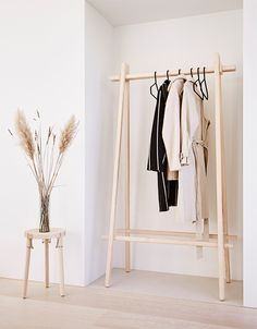 May 2020 - the ash clothes rack is designed based on the nordic design traditions of creating a functional and stylish piece of furniture that suits today's modern home. by: āndersen furniture Design Furniture, Plywood Furniture, Diy Furniture, Diy Clothes Rack, Clothes Rack Bedroom, Clothing Racks, Modern Clothes Racks, Space Clothing, Danish Design Store