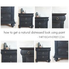 How To Get A Natural Distressed Look On Furniture Using Paint