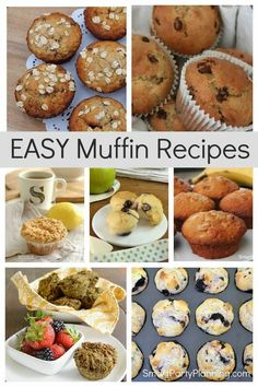 Selection of easy and delicious muffin recipes. Including chocolate, fruity and healthy muffins, there will be something here for everyone. The muffins are all quick to make and they use simple ingredients. The kids will love to have these muffins packed in their bags for school. Mini Banana Muffins, Cherry Muffins, Delicious Breakfast Recipes, Brunch Recipes, Muffin Recipes, Cake Recipes, Simple Muffin Recipe, Lemon Poppyseed Muffins, Healthy Muffins
