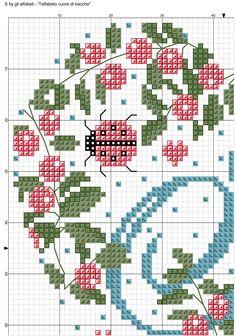 alfabeto cuore di bacche: S 1