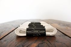 White Shoe Laces  Fine waxed cotton laces for by BootAndShoeLaces