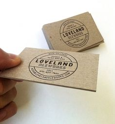 loveland / business cards