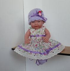 Handmade Baby Dolls Clothes for 9 10 dolls by FizziesFrocks
