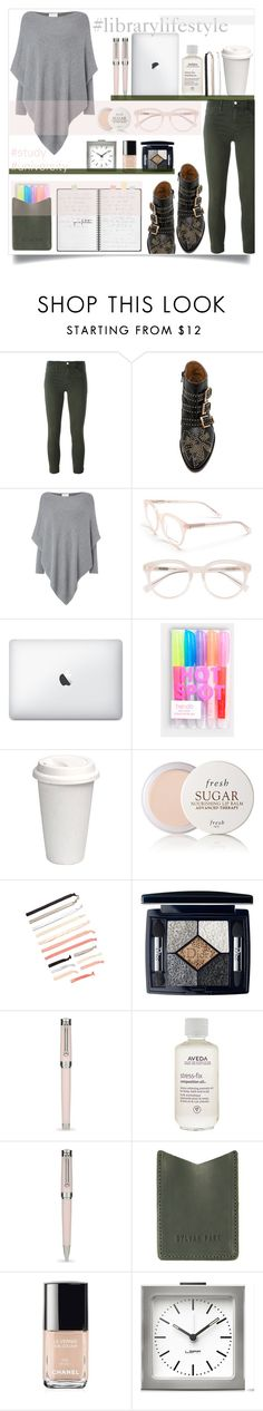 """""""library lifestyle"""" by sophie-martina ❤ liked on Polyvore featuring J Brand, Chloé, Part Two, Derek Lam, ban.do, Fresh, Christian Dior, Montegrappa, Aveda and Chanel"""