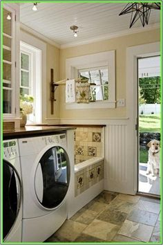 Dog Bath in the Mud/Laundry Room... GENIUS!