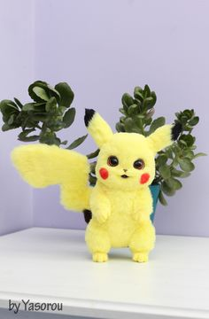 Pokemon Go, Pikachu, Handmade Toys, Handmade Art, Toy Art, Wallpaper, Detective, Happy, Plush