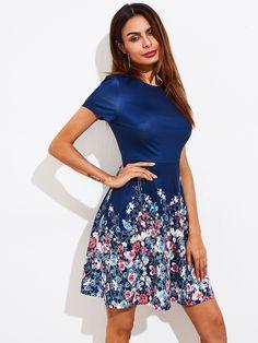 Shop Botanical Print Fit & Flare Dress online. SheIn offers Botanical Print Fit & Flare Dress & more to fit your fashionable needs.