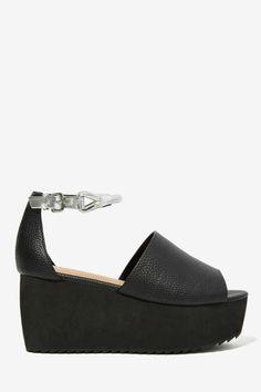 Nasty Gal Space Truckin' Vegan Leather Flatform - Sandals |  | Platforms | Sandals | Shoes