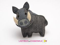 Cute miniature WILD BOAR (WILD PIG), magnet made from colorful felt fabric. This stuffed felt Boar is originally designed as a great home decor or adorable gift for your loved ones, educational for kids, fun for all ages. The Boar can be made as a magnet, double sided toy or