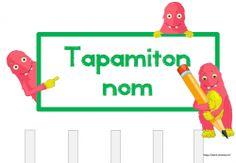 Tapamiton nom, gerer feuille sans nom oublié classe Cp, ce1 ce2, cm1, cm2