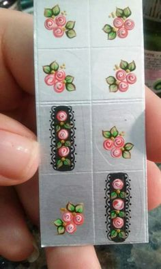 Nail Decals, Nail Stickers, Beautiful Nail Art, Gorgeous Nails, Hello Nails, Manicure Y Pedicure, One Stroke Painting, Flower Nails, Nail Tutorials