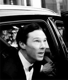 """He looks his valet in the eye and utters """"thank you very much"""" before greeting his fans (gif) He is perfect."""