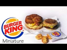 Burger King Breakfast - Polymer Clay Tutorial - YouTube