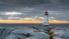 Sunset at Peggy's - Peggy's Cove Lighthouse, Nova Scotia