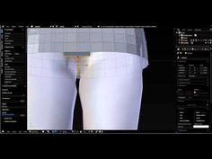 Blender Beginners Creating Mesh Pants (part 1)