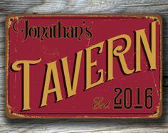 Customizable TAVERN SIGN, Pub Sign, custom Tavern Sign, Personalized Tavern sign, Vintage