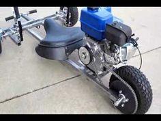 Three dog reverse trike motorized go kart test footage