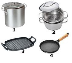Panelas – frigideiras – Caldeirão – Chapas - Utensílios de cozinha profissional e básico - Novas Dicas