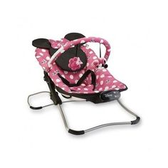 Minnie Mouse Bouncer Folding Baby Infant Newborn Kids Pink Jumpers And Polka Dot #Disney