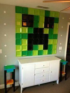 Minecraft Paper Plate Wall Creeper