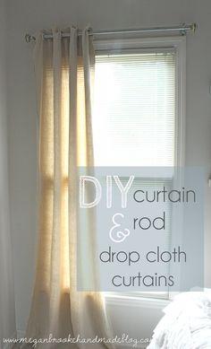DIY Curtains and Curtain Rod
