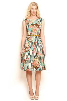 dresses knee length floral - Google Search