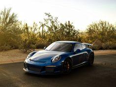 Blue car, sports, Porsche 911 GT3 RS wallpaper