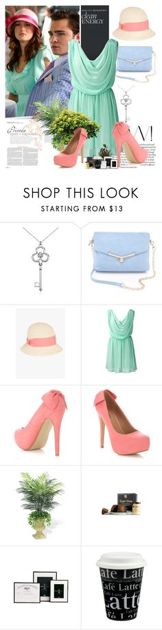 """""""Go Pastel!"""" by ultraviolet92 ❤ liked on Polyvore featuring Blue Nile, Botkier, Bebe, Miss Selfridge, Könitz, coral, pastel, pastels and Tiffany"""