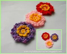 My hobby is crochet: Simple Dainty Flowers- Free Pattern with Photo Tutorial