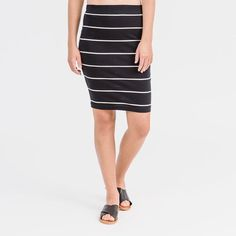 Add a t-shirt and you're sorted  Tube Skirt | Black Stripe | 100% certified organic cotton
