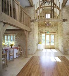 stone, floors, exposed beams, mezzanine