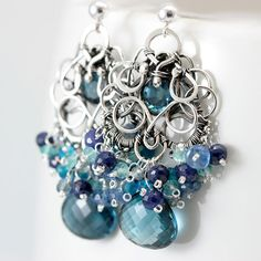 SO BEAUTIFUL but $349.00 on Etsy, yowza! Might not be made with perfect gemstones, but give me some tools and materials and I could certainly make something like this.