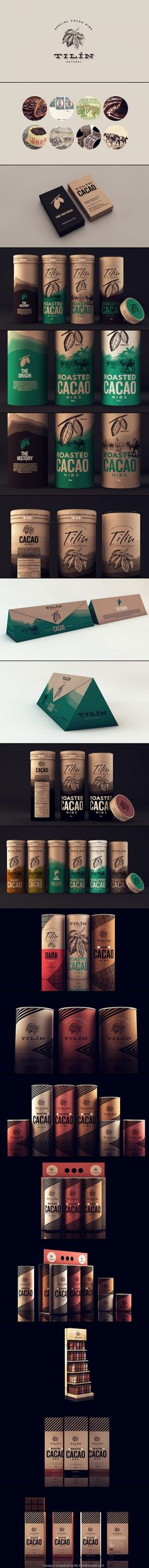 Sweety Branding Studio created packaging and branding for Tilín – a chocolate brand from Colombia.