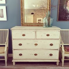 Great Provincial Swedish Gustavian Chest of Drawers.