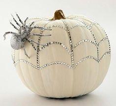 Glitter Web Pumpkins
