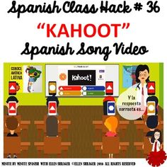 Spanish Class Hack to TL and Improved Classroom Management: Kahoot Spanish Songs, Spanish Lessons, Learn Spanish, Spanish Games, Teaching Jobs, Teaching Strategies, Spanish Language Learning, Teaching Spanish, Classroom Behavior