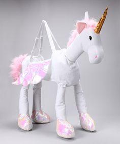 White Ride-On Unicorn Dress-Up Outfit - Kids #zulily #zulilyfinds