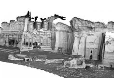 3D model of RoyalTombs in Petra, Jordan