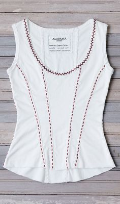 Alabama Chanin corset - salvaged tees Pattern is in Alabama Stitch Book