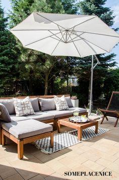 24 Super Ideas For Ikea Outdoor Furniture Applaro Cushions Ikea Outdoor, Patio Ikea, Ikea Patio Furniture, Patio Diy, Wooden Garden Furniture, Balcony Furniture, Outdoor Lounge, Outdoor Spaces, Outdoor Living