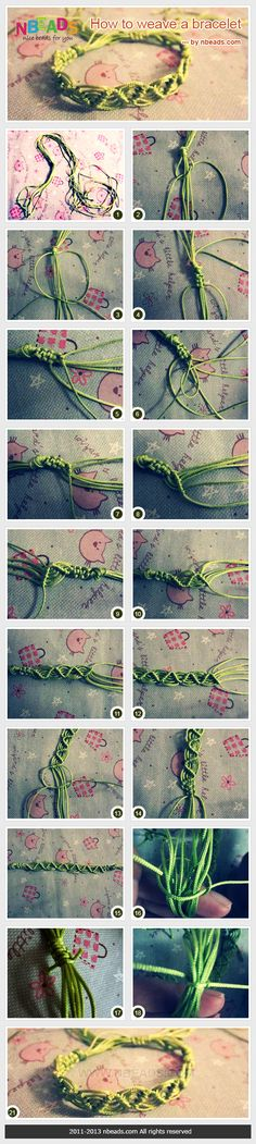 how to weave a macrame bracelet