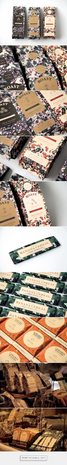 This floral design packaging is beautiful | Coffee Packaging by Warren Tey