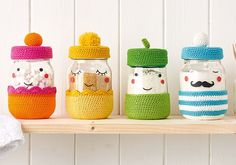 Crochet pattern: How to make a crochet jar cover | Mollie Makes | Bloglovin'