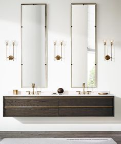 Restoration Hardware: what your bathroom can look like with plain white walls
