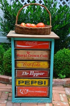 7 Ways to Repurpose Old Soda Crates • Great Ideas and Tutorials! Including, from 'lavender and linen', a nice tutorial on how to make this creative chest.