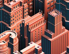 """Popatrz na ten projekt w @Behance: """"City Life - Isometric Cityscape"""" https://www.behance.net/gallery/23869083/City-Life-Isometric-Cityscape"""