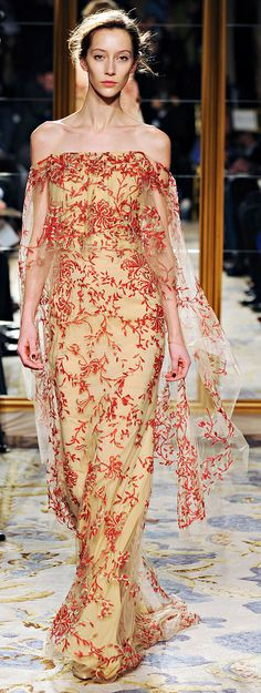 Marchesa Fall 2012 RTW, this would be a beautiful spring or summer wedding gown...