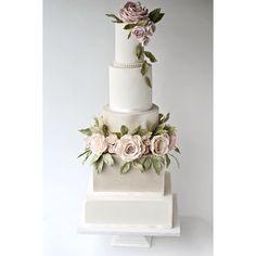 "271 Likes, 26 Comments - Sophia's Cake Boutique (@sophiascakeboutique) on Instagram: ""New design for 2018 classically elegant blush rose and pearl lustre cake. #yorkshirewedding…"""